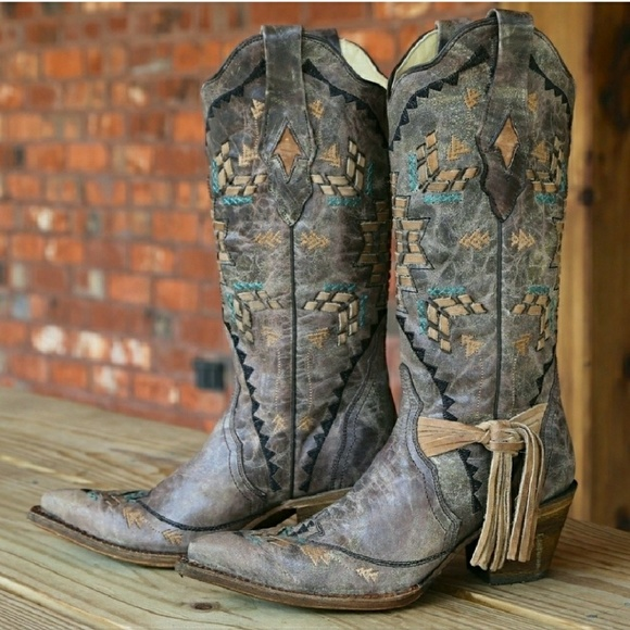 88c87468201 New in Box! CORRAL Fringe Cowgirl Cowboy Boots NWT